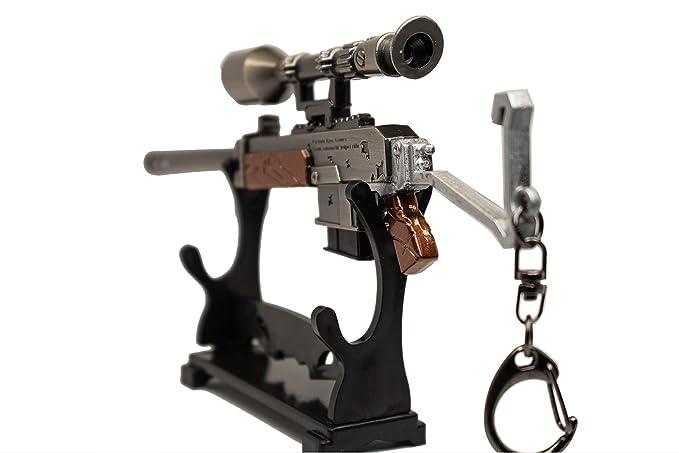 Amazon.com: RG12 - Llavero con pistola, réplica para fans de ...