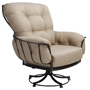 5 leg swivel rocker chair base rattan rocking cushions java cushion ow lee lounge copper canyon finish redwood fabric