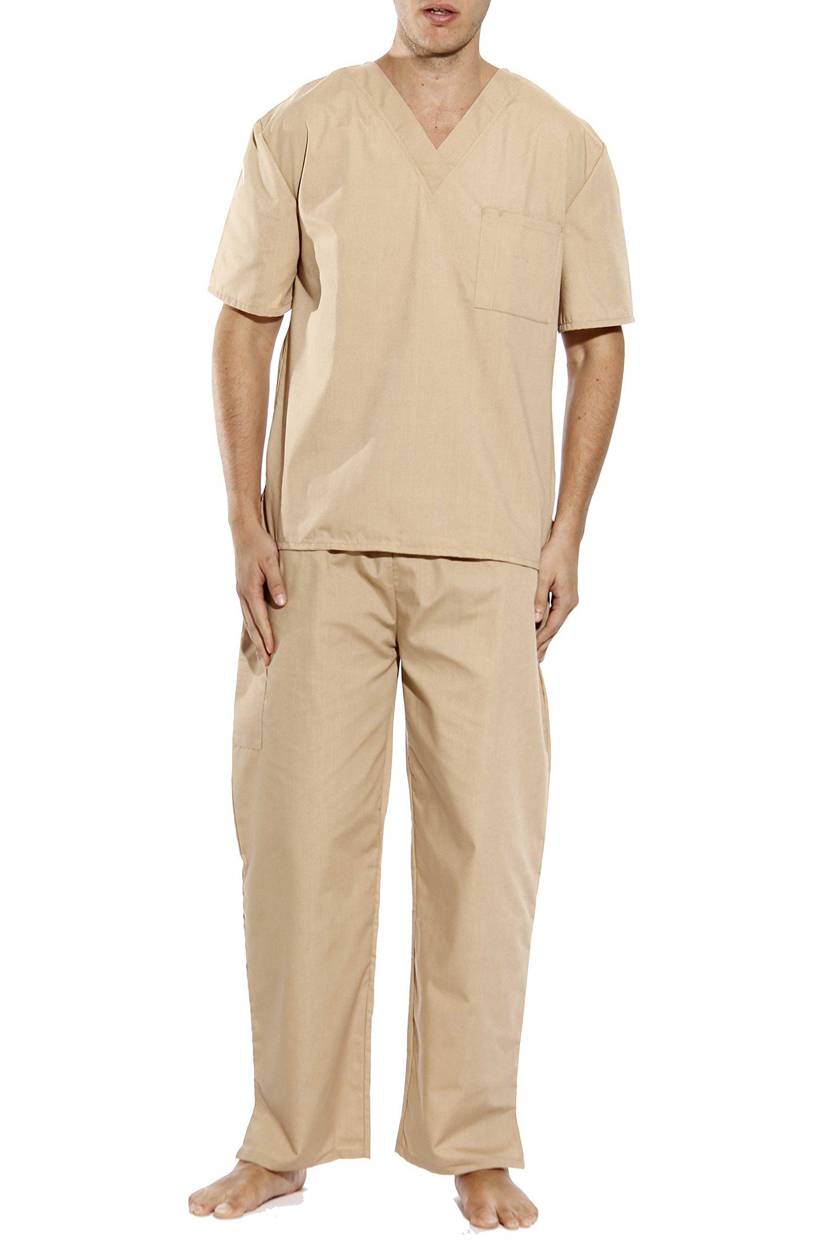 33000M-Khaki-XXL Tropi Unisex Scrub Sets / Medical Scrubs / Nursing Scrubs