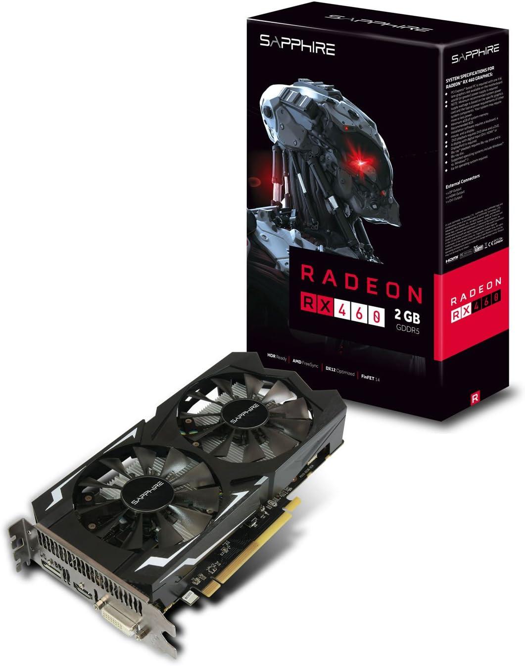 Sapphire 11257-00-20G - Tarjeta gráfica (400 W, AMD, Radeon RX 460 ...