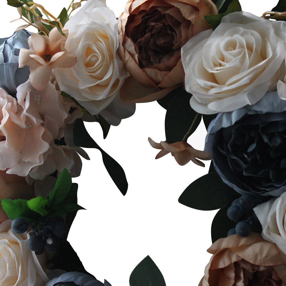 Vintage Rose Wreath Home Wall Decorations by LOUHO (Image #3)