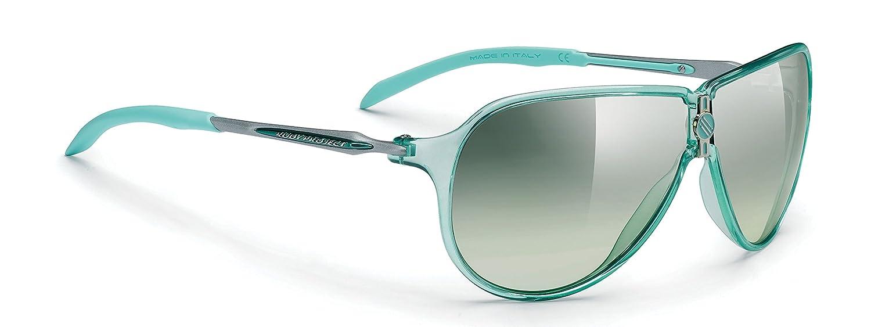 Rudy Project Sportbrille Prestige Crystal Aquamarine Grün Laser deg