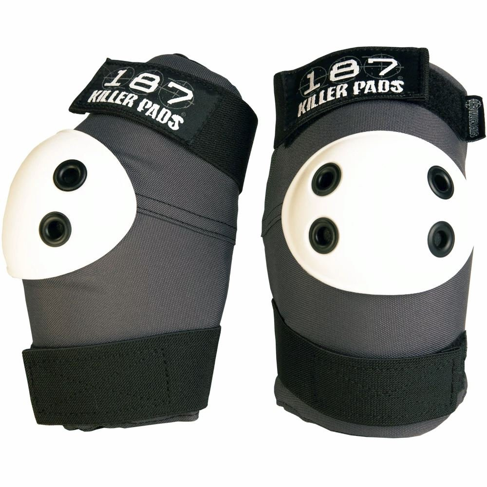 187 Killer Pads Elbow Pads (Grey/White, Small)