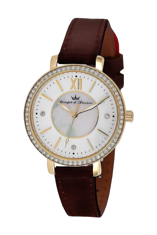 YONGER&BRESSON Damen-Armbanduhr DCP 049S-BU