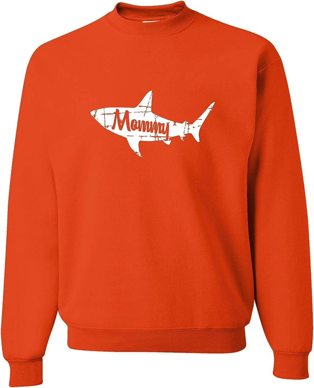 Go All Out Adult Fashion Mommy Shark Sweatshirt Crewneck