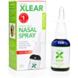 XLEAR Nasal Spray, 1.5 Fl Oz, All-Natural Saline and Xylitol Moisturizing Sinus Care - Immediate and Drug Free Relief From Congestion, Allergies, and Dry Sinuses