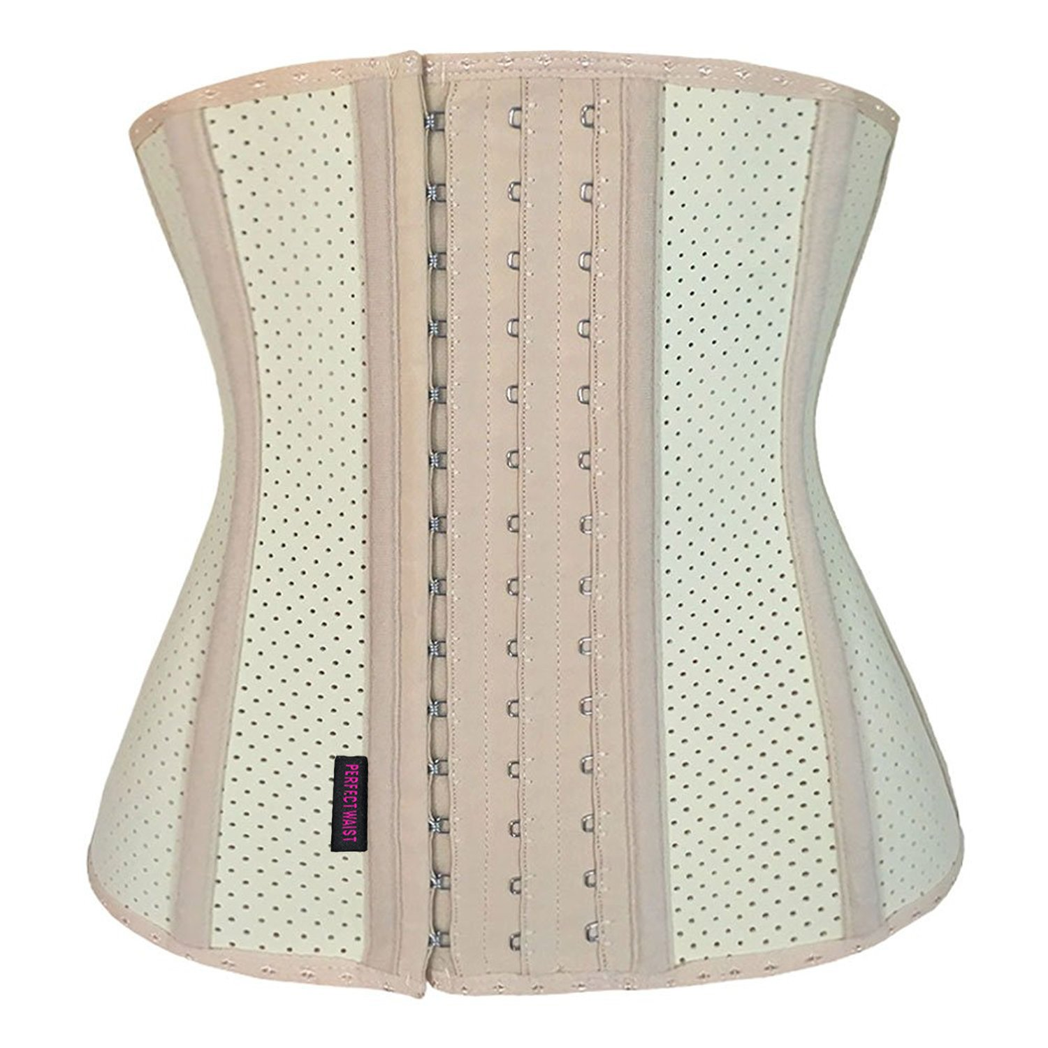 36f9fa2ec22 Galleon - FIRM ABS Women s Mesh Waist Trainer Workout Breathable Waist  Corset With 9 Steel Boned Shapewear