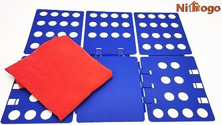 Nifogo Doblador de Ropa - Tabla para Doblar la Ropa - Placa Ayuda para Plegar la Ropa Camisetas Tablero para Plegar Camisas 70x59cm: Amazon.es: Hogar