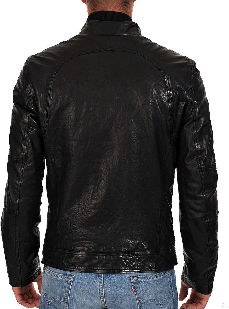 Kingdom Leather New Men Designer Genuine Cow Leather Soft Biker Leather Jacket XC1027