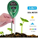 CHINFAI Soil Moisture Meter, 3-in-1 Soil PH Meter For Moisture, Light & pH,Indoor/Outdoors High Accurate & Easy Read Indicator (No Battery Needed)