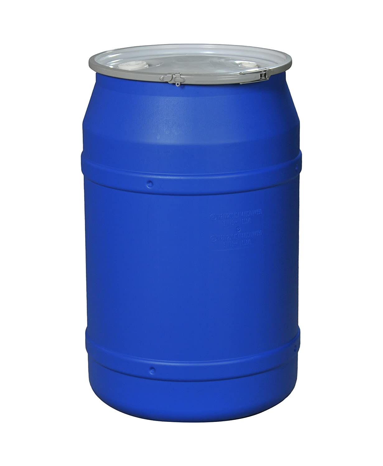 Eagle 1656MBBG Straight Sided Drum With Metal Band And Plastic Lid With  Bungs, 55 Gal, Blue: Amazon.com: Industrial U0026 Scientific