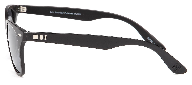 f3705a48f5 GAMMA RAY STEALTH Blaze Polarized UV400 Vintage Flat Black Sunglasses  Shatterproof TR90 Nylon Bendable Matte Finish Frame  Amazon.co.uk  Clothing