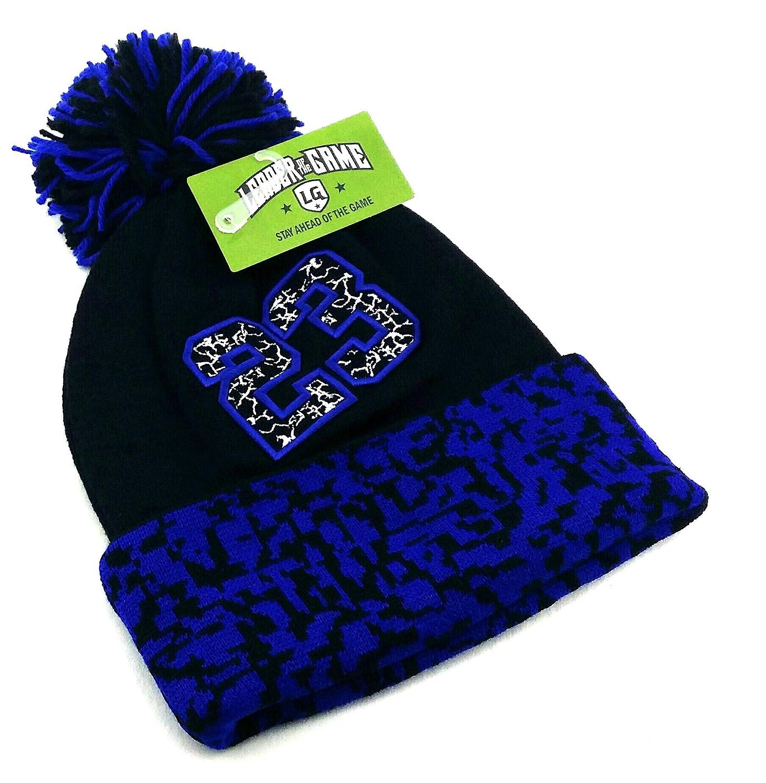 6ddb2799cdfc Amazon.com  Chicago New Leader 23 Jordan Bulls Colors Black Blue Toque  Cuffed Pom Beanie Era Hat Cap  Sports   Outdoors