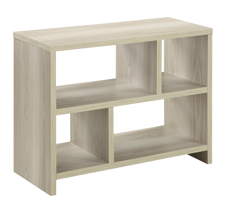 Convenience Concepts Northfield Console Table Bookcase, White 111085W