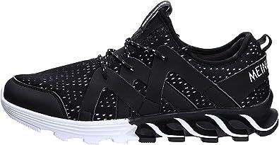 BEIXI - Zapatillas de Running para Hombre 2018, para Deportes, Atletismo, Correr, Hacer Ejercicio, Casual, Correr por Carretera, Negro (Negro), 42 EU: Amazon.es: Zapatos y complementos