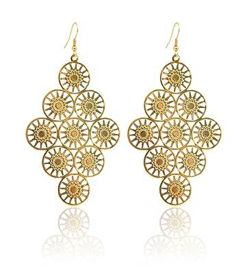 Ohrringe gold  2LIVEfor Ohrringe Gold hängend Blätter Ohrringe Vintage Gold ...