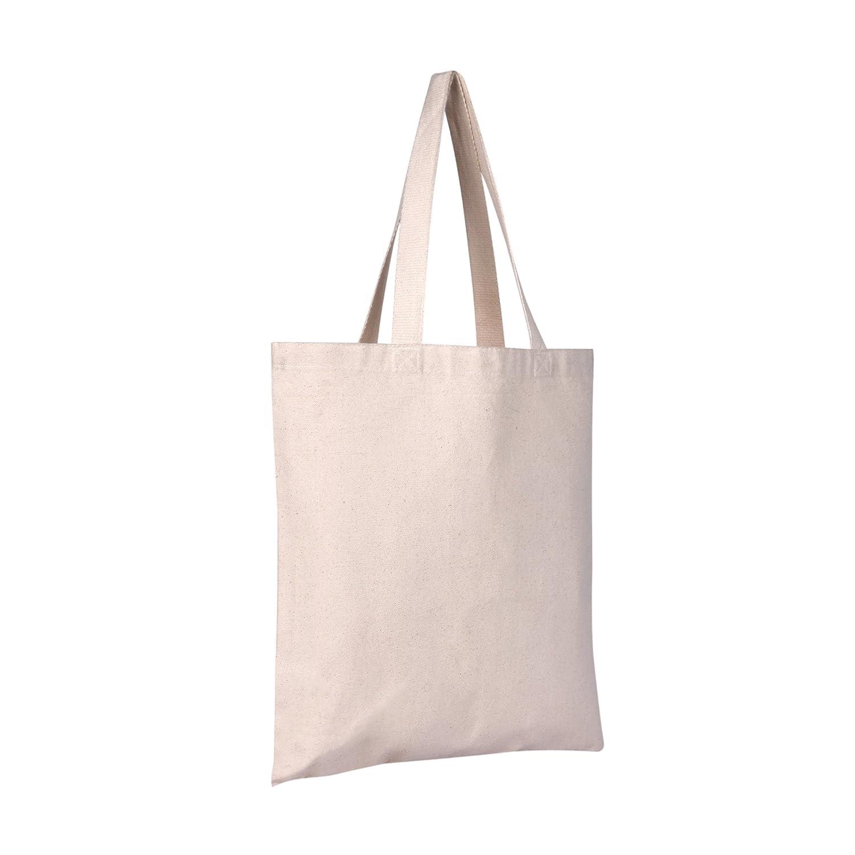 55%以上節約 25パックキャンバストートバッグ| ナチュラル Heavy Duty &再利用可能な&環境に優しい空白キャンバスバッグin 16 Bulk | 15 Shopping