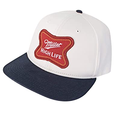 99b55480 Miller High Life Logo Cotton Twill Snapback Hat Standard at Amazon ...