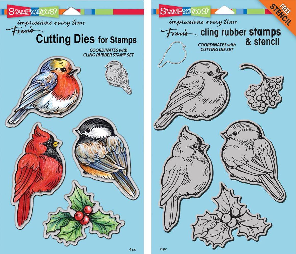 Amazon.com: Stampendous Winter Tweets Stamps & Dies Set - 2 Item ...