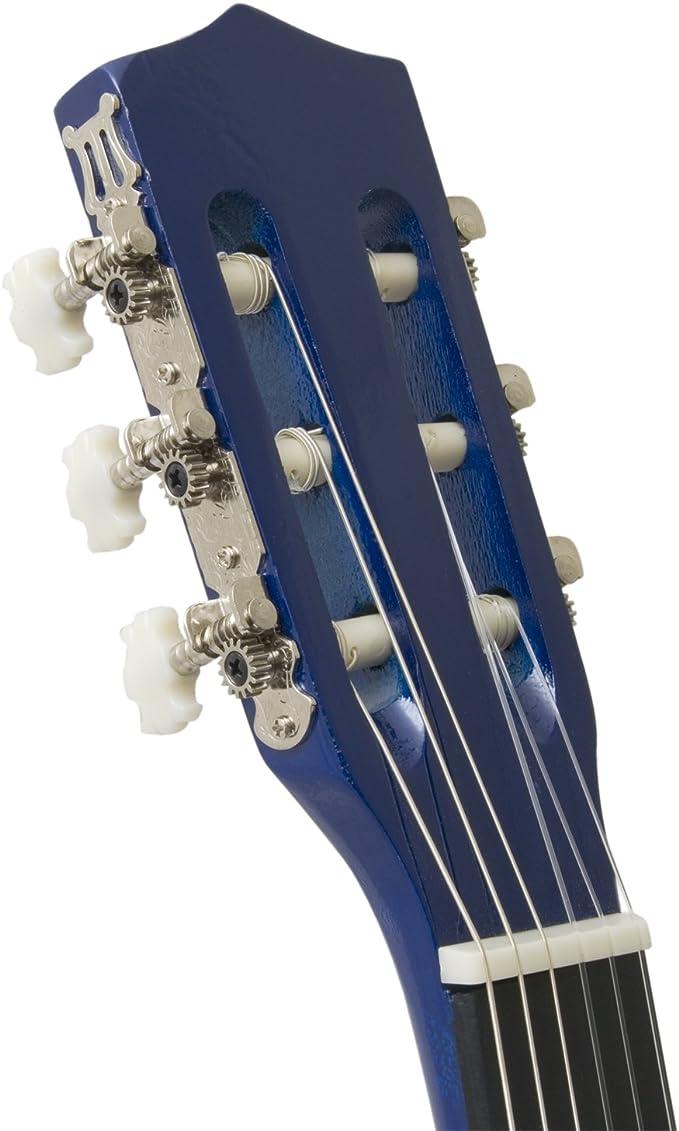 Tiger - Guitarra clásica infantil (tamaño 3/4), color azul: Amazon ...