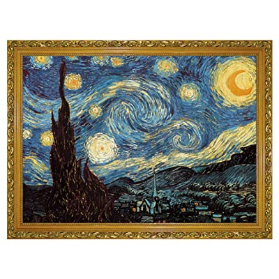 Starry Night by Vincent Van Gogh Jigsaw Puzzle 1000 Piece Puzzles for Adults Kids: Toys & Games