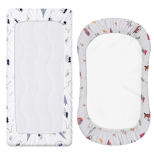 Amazon.com: Juego de 2 sábanas bajeras de microfibra, diseño ...