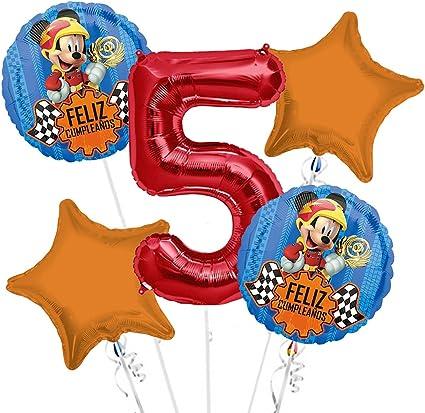 Amazon.com: Mickey Mouse feliz cumpleanos ramo de globos ...