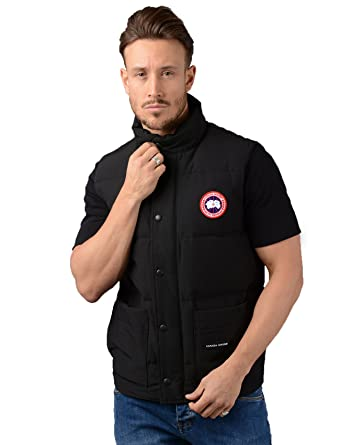 canada goose gilet mens freestyle vest gilet in black amazon co rh amazon co uk