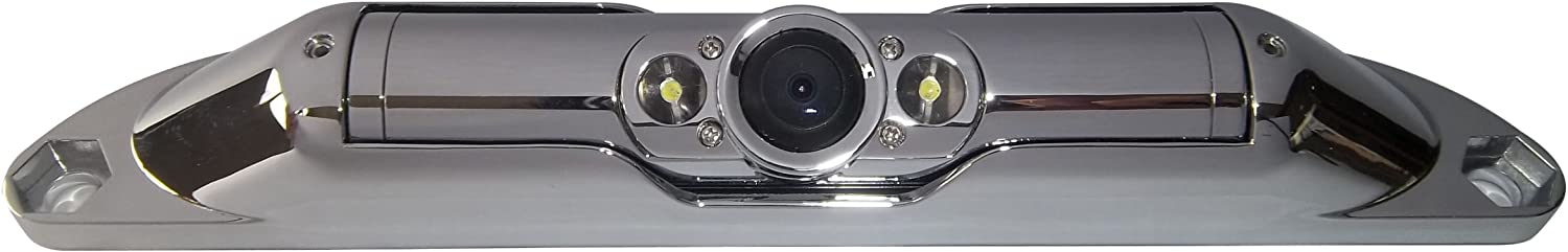 BOYO VTL420CL – Bar-Type License Plate Mounted Backup Camera with Parking Lines and LED Lights Black
