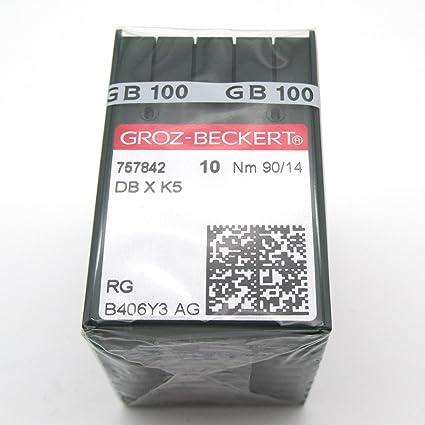 KUNPENG - 100 Groz Beckert DBXK5 Agujas de la máquina de coser del bordado ajuste paraTajima