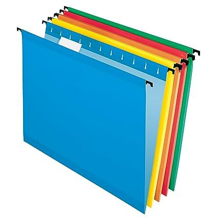 Pendaflex 10 Carpeta de archivadores reforzada para colgar, varios colores (6154 1/5