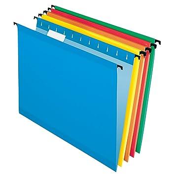 Pendaflex 10 Carpeta de archivadores reforzada para colgar, varios colores (6154 1/5 ASST): Amazon.es: Oficina y papelería