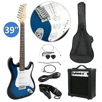 Amazon.com: LEMY Juego de iniciación de guitarra eléctrica ...