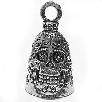 Guardian Bell Guardian Sugar Skull Flowers Of Death Motorrad Biker