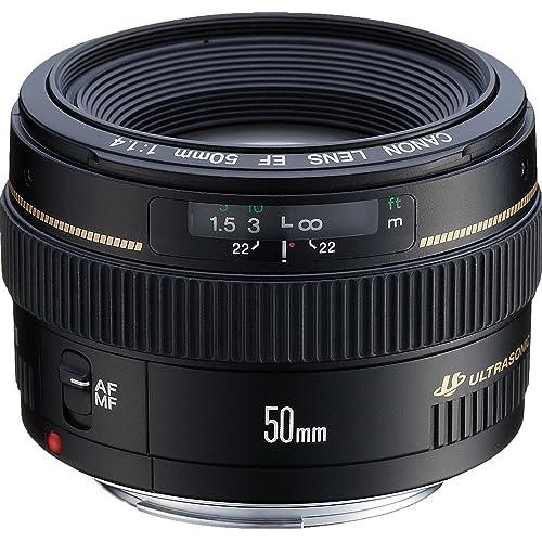 Canon EF 50 mm-f/1.4 USM Lens, Black