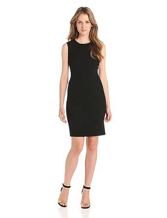 black uk Sheath co 10 Dress Sleeveless Calvin Klein Amazon Women's qTHwOwSnX
