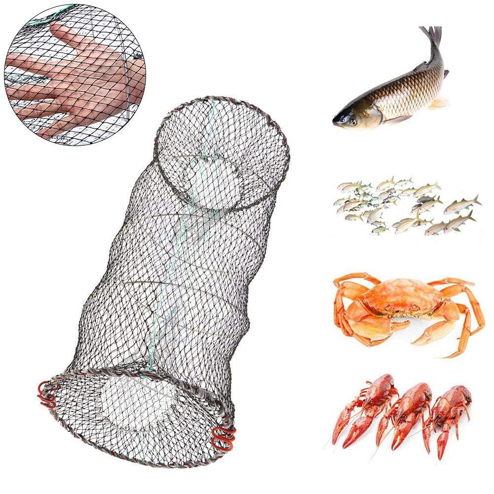 liuxi9836 Fischernetz Mesh Fish Shrimp Trap Faltbarer K/ödernetz Dip Cage