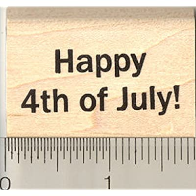 Happy 4th of July Rubber Stamp, American Independence Day: Arts, Crafts & Sewing