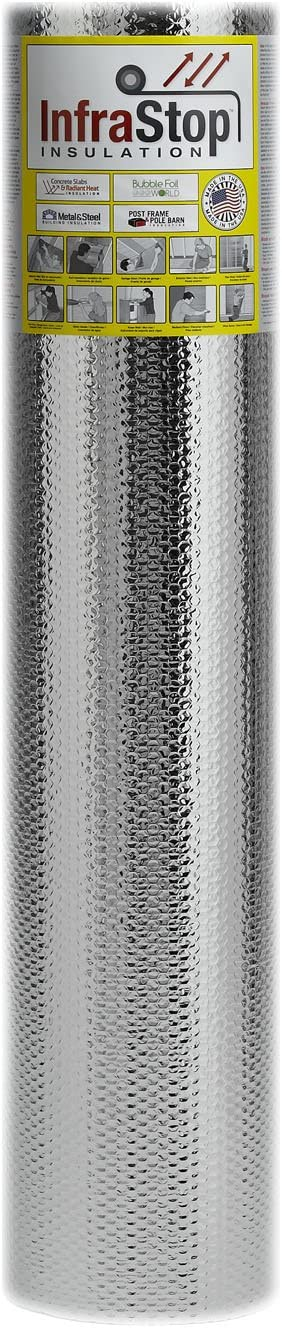 "Reflectix Double Sided Insulation 48/"" Metallic Foil Single Bubble 4x10 R7-21"