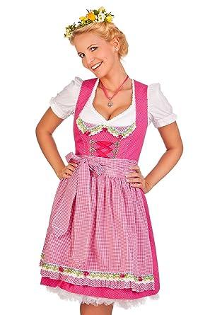 3371f35eb731b0 Trachten Minidirndl 2tlg. - Belle - pink, Größe 48: Amazon.de ...