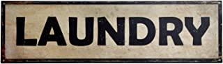 """product image for Surf To Summit Handcrafted Vintage Laundry Steel Sign (36"""" x 10"""") Antique Laundry Wash Room Home Decor Gift Laundry Room Sign Retro Laundry Tin Sign"""