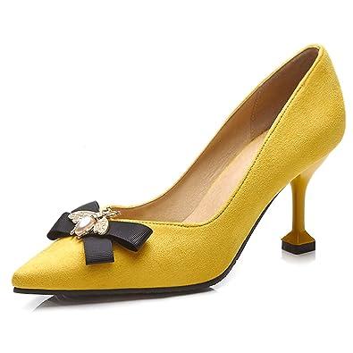7b8a0e58ff1 QFISH Lady s Closed-Toe Heels