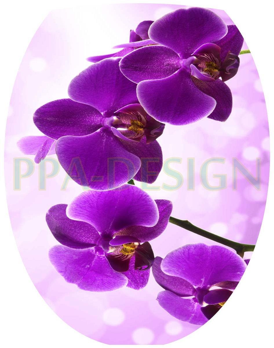 Sticker Autocollant Abattant WC Orchid/ée 35x42cm SAWC0070