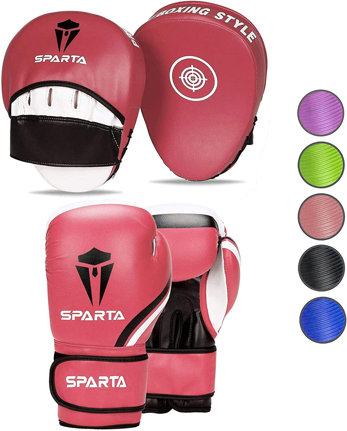 Boxing gloves and pads set Focus Punch Mitts MMA Training Sparring Hook and Jab strike target with Punching Gloves