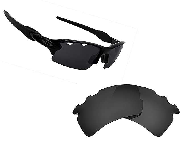 eeea2af954 VENTED FLAK 2.0 XL Replacement Lenses Polarized Black by SEEK fits OAKLEY