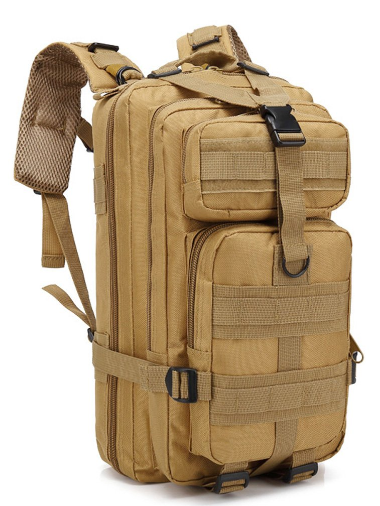 Simways 30L Tactical Molle Backpack Waterproof for Camping Hiking Trekking (Tan)