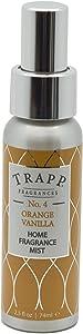 Trapp Candles Home Fragrance Mist, No. 4 Orange/Vanilla, 2.5-Ounce