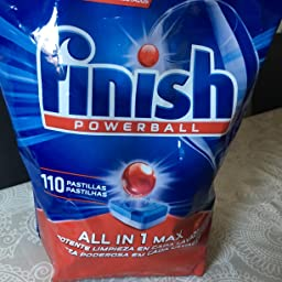 Finish Todo en 1 Max Regular Pastillas para Lavavajillas - 25 + 10 ...