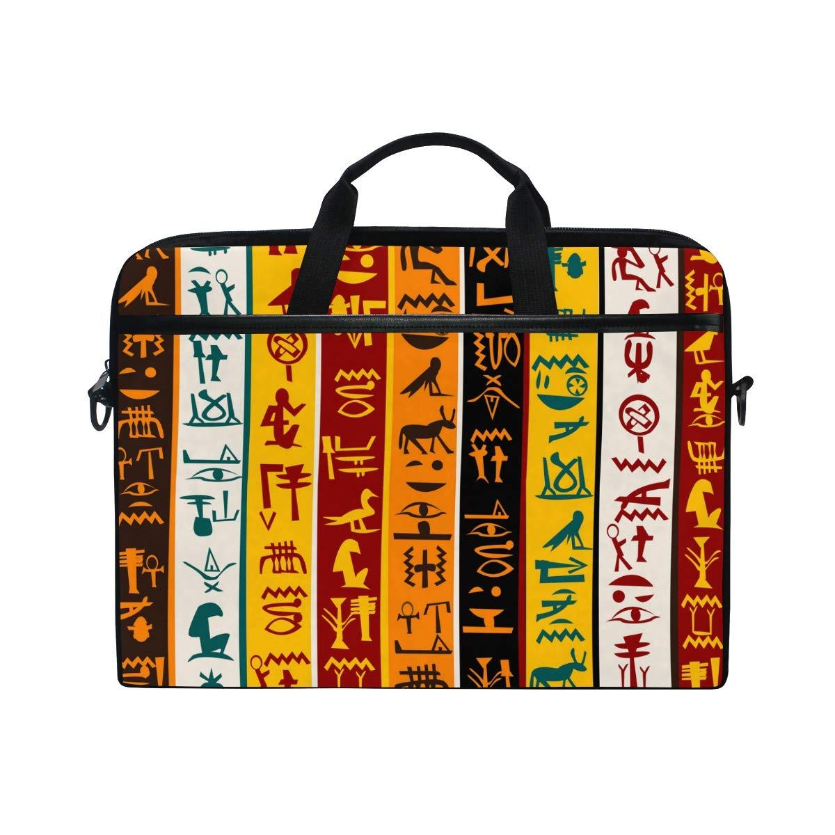 Ahomy Colorido Egipcio Hieroglyphs 14 – 15,4 Tela Pulgadas Multifuncional Tela 15,4 Impermeable portátil Bolsa maletín Bandolera Bandolera cac9c9