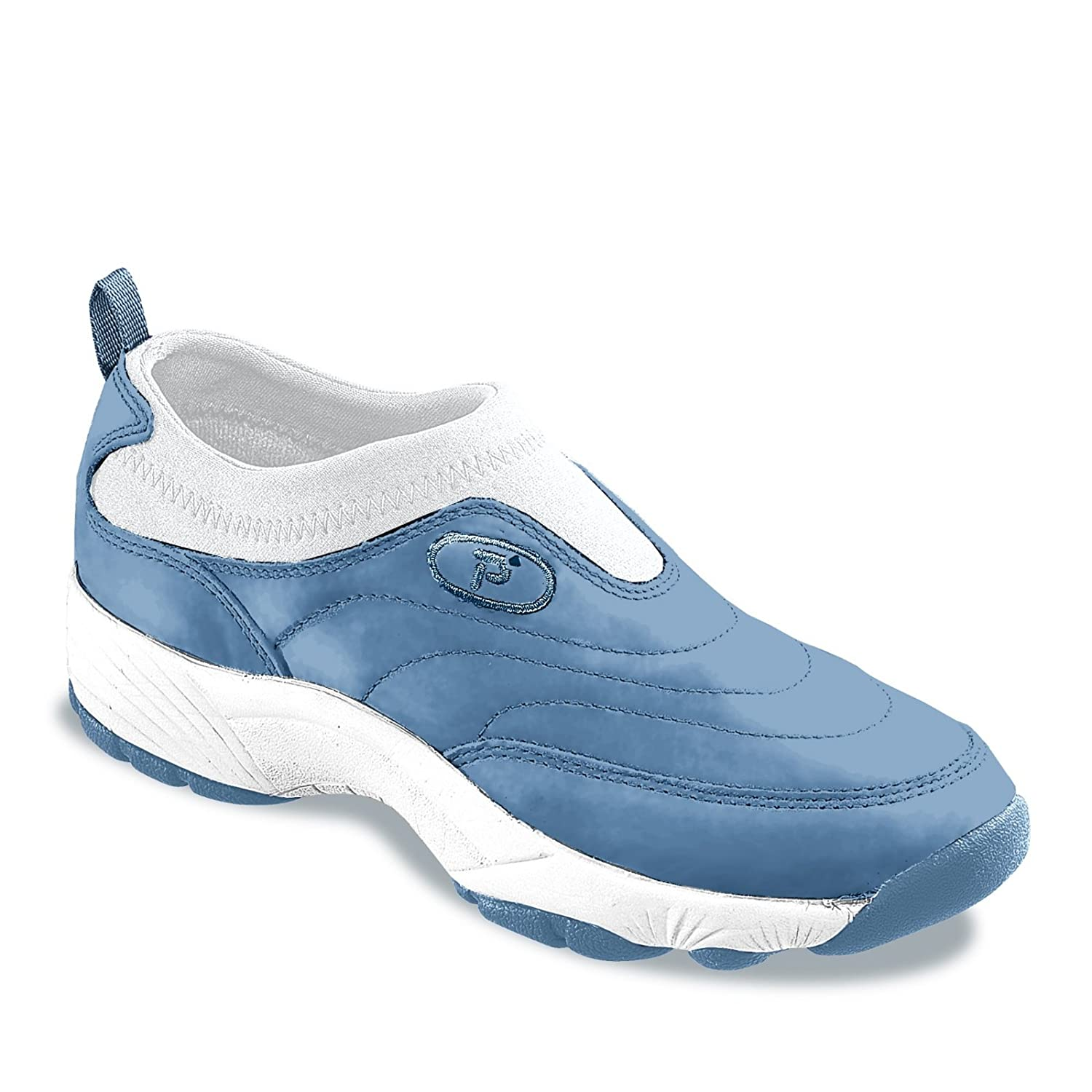 Propet Women's Wash N Wear Slip on Ll Walking Shoe B000KPLUWW 9.5 B(M) US|Royal Blue/White
